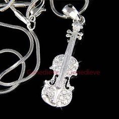 W Swarovski Crystal Big Musical Instrument by ElementsOfArt