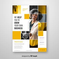 Abstract business flyer template Vector | Free Download