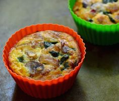 Bacon, Spinach and Mushroom Egg Muffin