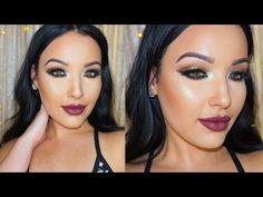 Fall Vamp Makeup Tutorial   Olive & Plum - YouTube
