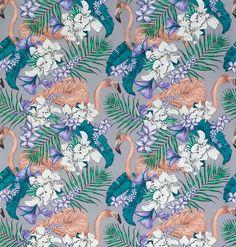 flamingo wallpaper - Ullablennemann - #ullablennemann #ullablennemanninterior