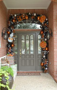 Stop staring at my Pumpkins! Halloween garland, door decor, Show Me Decorating