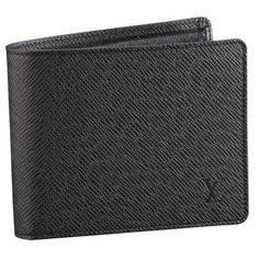 Men Louis Vuitton Taiga Leather Florin Wallet Gray M31112