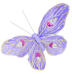 Touch of Nature Fancy Butterfly Peacock Design Assortment Decorative Item, 4.25 by 3.5-Inch, Blue and Purple Mix on Clip Touch of Nature http://www.amazon.com/dp/B00CF2BI84/ref=cm_sw_r_pi_dp_-almub11ZMQQR