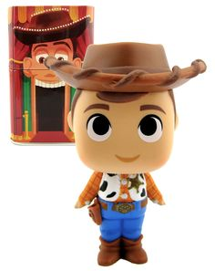 Funko Mystery Minis - Toy Story Woody - Disney Treasures. New, Mint + Collectors Tin. #Funko #Disney #Collectibles