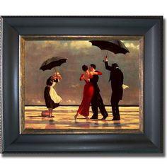 Jack Vettriano 'Singing Butler' Framed Canvas Art | Overstock.com