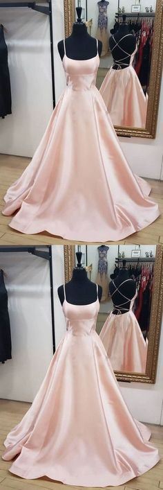 Simple pink satin long prom dress, pink evening dress 94 from PrettyLadys - Prom Dresses Design Pink Prom Dresses, Trendy Dresses, Satin Dresses, Sexy Dresses, Strapless Dress Formal, Beautiful Dresses, Gowns, Formal Dresses, Pink Satin Dress