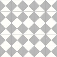 Traditionell cementgjuten golvklinker med 3-4 mm ytskikt av infärgad marmorkross. Tjocklek ca 20 mm. Mönsterplatta: Diagonal ruta. Kulör: Grå/Vit. Förpackning om 10 plattor Observera att cementklinkers inte lämpar sig till våtutrymmen.