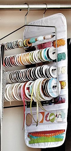 Ideas for Organizing Craft Supplies Pant Hangers