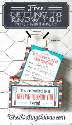 Get to know the neighbors! Host a BBQ with these ADORABLE printables! Makes it simple AND fun!! www.TheDatingDivas.com #BBQprintables #freeprintables #summerprintables