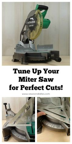 Fijn afstellen van de afkortzaag. http://sawsonskates.com/2016/09/27/how-to-adjust-a-miter-saw-for-accurate-cuts/