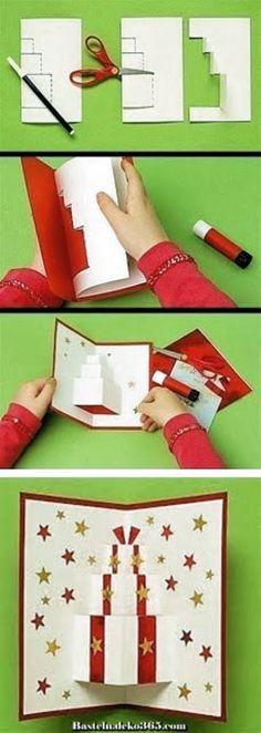 Diy Geschenk Basteln - Schöne kreative Grußkarten zu Händen Weihnachten.  #diygeschenkfreund #diygeschenkpopupkartebastelnmitpapier #diygiftbag