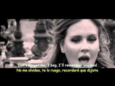 Adele - Someone Like You (Lyrics & Sub Español) Official Video Adele Someone Like You, Give It To Me, Adele Lyrics, Yours Lyrics, Thomas Jefferson, Back To Black, Einstein, Pop Rock Music, Warner Music
