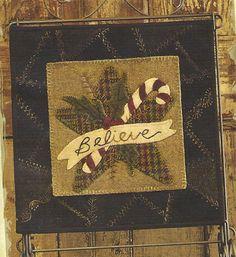 Primitive Folk Art Wool Applique Table Mat by PrimFolkArtShop, $6.00