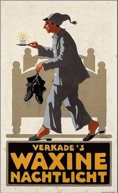 Vintage Poster Verkade♥ Tea-lights. The Netherlands.
