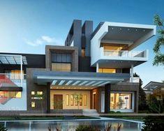 Inspiring Building Trends Bungalow Exterior Rendering New Bungalow Design Contemporary - Exterior Exterior Model Of Bungalow. Minimalist House Design, Small House Design, Modern House Design, Home Design, Design Ideas, Modern Zen House, Modern Bungalow, Modern House Plans, Bungalow Designs