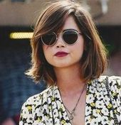 Beautiful hairstyles for round faces and thick hair short  # thick # hairstyles #