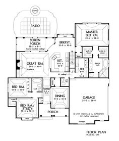 Craftsman house plan with 2663 square feet and 4 bedrooms for Becker study plan