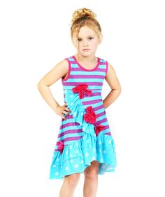 Blue Hyacinth Dakota Dress - Infant, Toddler & Girls | zulily