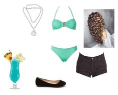 """Beach#2"" by flamingfirewolf ❤ liked on Polyvore featuring Billabong, NOVICA and TIKI"