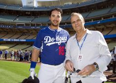 6/13/14-Something Current-AZ-3, LAD-4 by Jon SooHoo/LA Dodgers Andre Ethier and Joe Torre Dodgers Girl, Dodgers Fan, Dodgers Baseball, Andre Ethier, Joe Torre, Dodger Blue, Go Big Blue, My Future Boyfriend, The Outfield