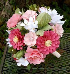Easy Paper Flowers, Paper Flower Tutorial, Giant Paper Flowers, Felt Flowers, Origami Bouquet, Flower Bouquet Diy, Paper Bouquet, Wedding Bouquets, Shabby Chic