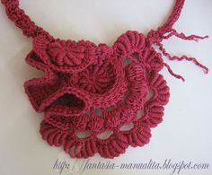 freeform crochet necklace ispiration