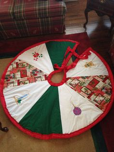 Embroidered Christmas Tree Skirt