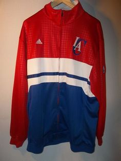 Los Angeles Clippers Adidas Zip Up Stitched Warm up Jacket Large | Sports Mem, Cards & Fan Shop, Fan Apparel & Souvenirs, Basketball-NBA | eBay!