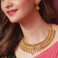 Gold Earrings Designs, Necklace Designs, Gold Jewelry Simple, Gold Jewellery, Jewellery Shops, Jewelery, Handmade Jewellery, Gold Bangles, Jewelry Stores