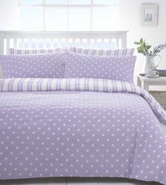 Lilac & White Polka Dot Spot Discount Bedding Sets / Bed Linen | eBay $31.00