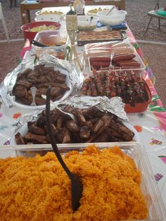 Guam Island BBQ..Need I say more? :) The food in Guam was wonderful! I miss it. And I cant find that seed that makes the red rice Red!