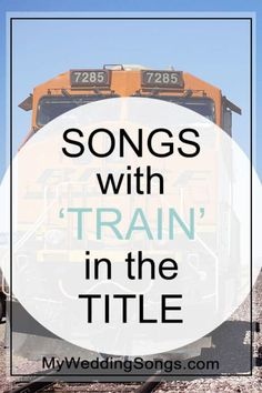 Looking for train songs? See our list of Top 10 Train Songs - each song with the word train in the song title. What song is Crazy Train, Love Train? Wedding Song List, Reception Party, Nontraditional Wedding, Cute Wedding Ideas, Wedding Places, Music Therapy, Plan Your Wedding, Love Songs, Have Fun