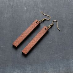 Leather Drop Earrings – The Magnolia Market