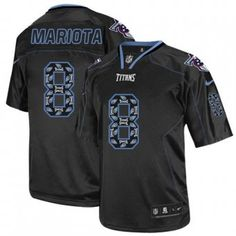 Mens Nike Tennessee Titans #8 Marcus Mariota Elite New Lights Out Black NFL Jersey