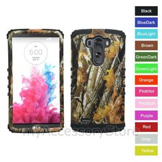 For LG G3 Camo Camouflage Hard & Rubber Hybrid Rugged Impact Phone Case Cover #CellArmor