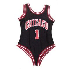 Women sexy Chicago Bulls style bodysuit fashion leotard trendy sports... ($28) ❤ liked on Polyvore featuring swimwear, one-piece swimsuits, sport swimsuits, swimming costume, sports swimwear, one piece sports swimsuits and bathing suit swimwear