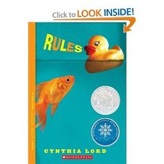 Rules by Cynthia Lord:Frustrated at life with an autistic brother, twelve-year-old Catherine longs for a normal existence but her world is further complicated by a friendship with an young paraplegic. Good Books, Books To Read, My Books, Free Books, Amazing Books, Realistic Fiction, Thing 1, All Family, Family Life