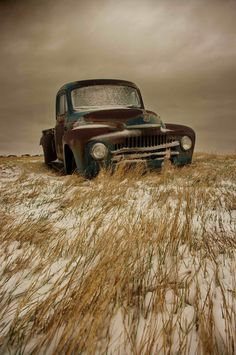Merlin Rancier | International Pickup | Prairie rubble - Found on the Southern Saskatchewan snowy prairie