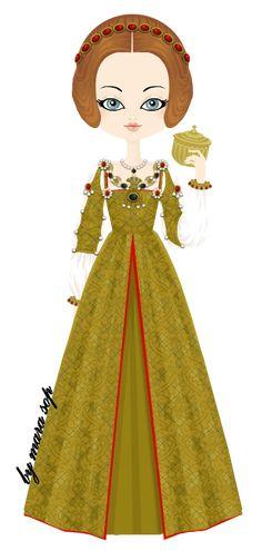 Mary Rose Tudor, queen of France by marasop.deviantart.com on @deviantART