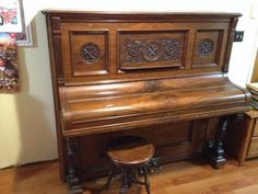 1902 kimball upright piano that needs refinishing. All parts are ...