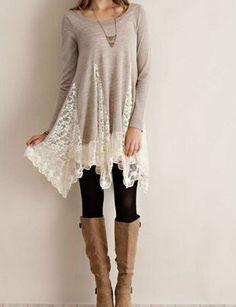 Light Gray Lace Dress