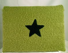felted green laptop sleeve