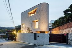 Gallery of Pyeong Chang Dong Brick House / June Architects - 9 Minimalist Architecture, Architecture Details, Mews House, Art Chinois, Modern Buildings, Townhouse, Building A House, House Design, House Styles