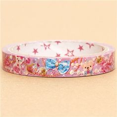 cute Sticky Tape with sparkling teddybears ribbons 2