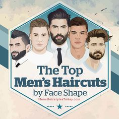 "If you've ever wondered what hairstyles suit you and how you should cut your hair, here's a list of the top styles for all men. We've broken down the different hairstyles for men according to face shape – oval, long, round, square, diamond, and triangle. If you catch yourself asking ""what kind of haircut should …"