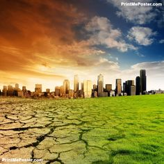 Poster of Global Warming Concept, Nature Posters, #poster, #printmeposter, #mousepad, #tshirt