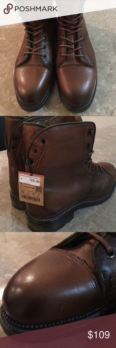 NEW ZARA MAN WORKER LEATHER BOOTS Size: 12 These are AWESOME!! Top of the line Quality and very Stylish.   Made of TOP QUALITY leather worth every penny of the $169 retail price!!   Please look at all photos the pictures are of the exact shoes you will get!  One of the shoes have two very small and superficial scratches that most likely you be able to remove with a good polish and shine! Zara Shoes Boots