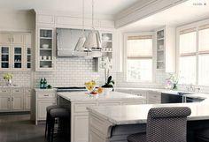 U Shaped Kitchen, Transitional, kitchen, Courtney Hill Interiors Kitchen Interior, New Kitchen, Kitchen Dining, Kitchen Decor, Kitchen Ideas, Kitchen White, Slate Kitchen, Kitchen Planning, Kitchen Seating