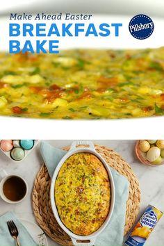 Cheesy Recipes, Egg Recipes, Brunch Recipes, Cooking Recipes, Breakfast Items, Breakfast Dishes, Breakfast Bake, Breakfast Recipes, Breakfast